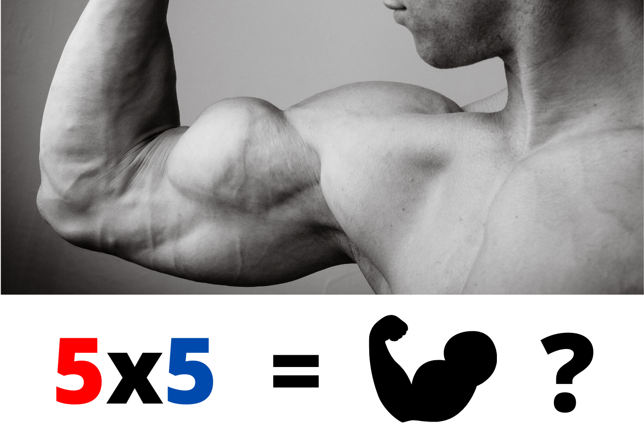 5x5 training for biceps or triceps? Guide to get huge arms !